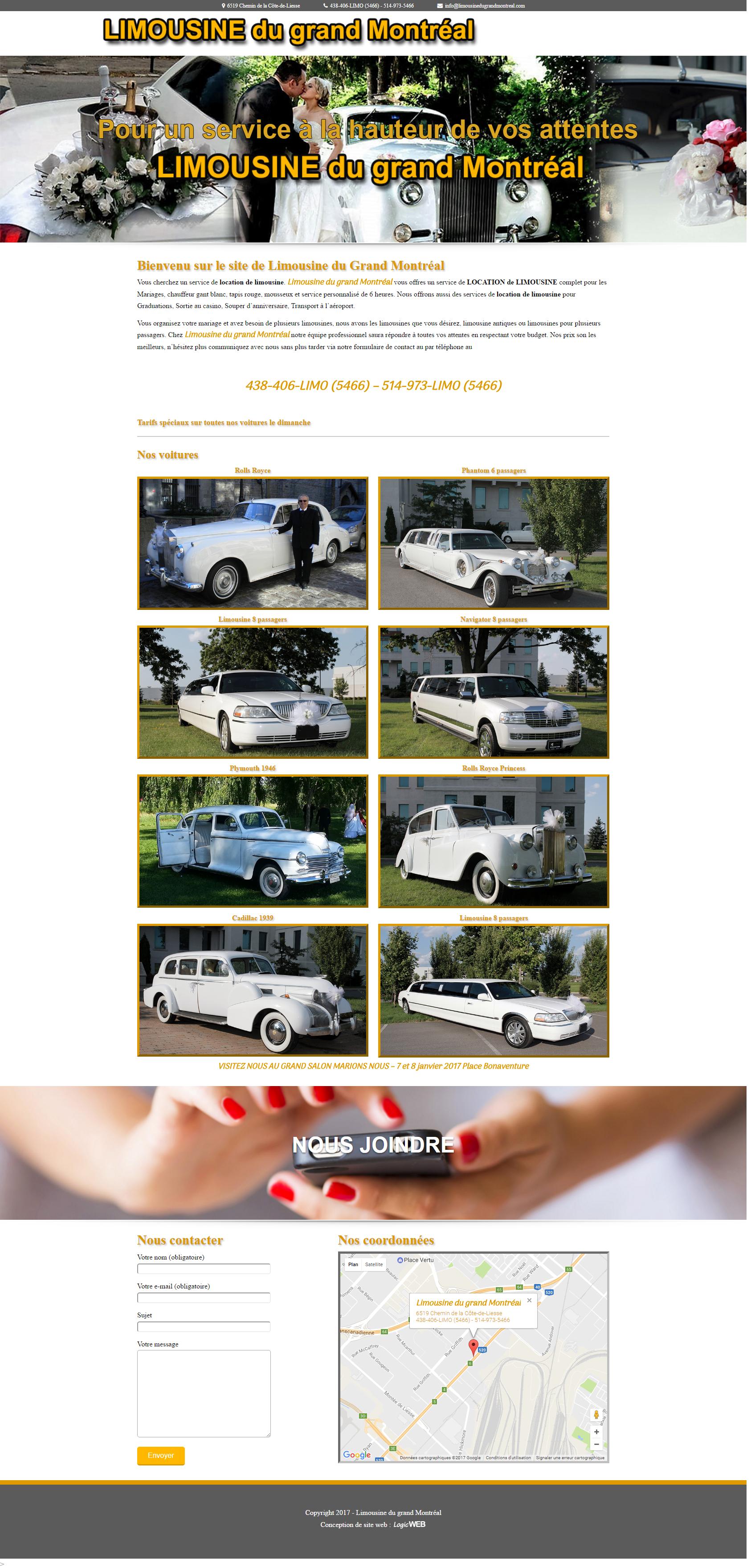 limousine du grand montréal